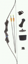 SILCO Archery Black Family / Youth Recurve Bow Set 20Lbs (extra arrows)